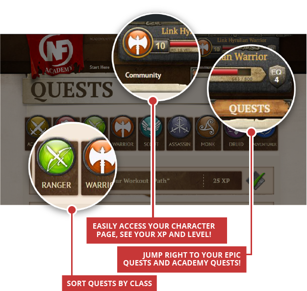 Tons of epic quests to complete!
