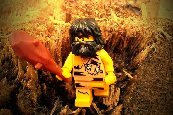 This caveman is looking for his next paleo meal.