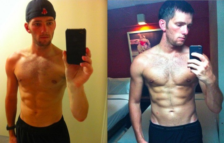 How was Steve able to gain so much muscle on three months? Strength Training and proper diet.