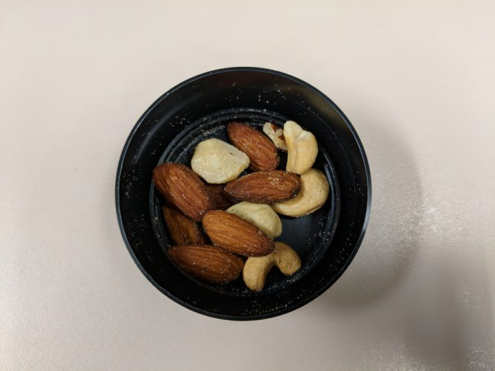 Nuts are great snacks for hiking.