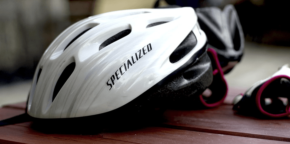 a picture of a bike helmet, which you 100% should wear on your bike ride.