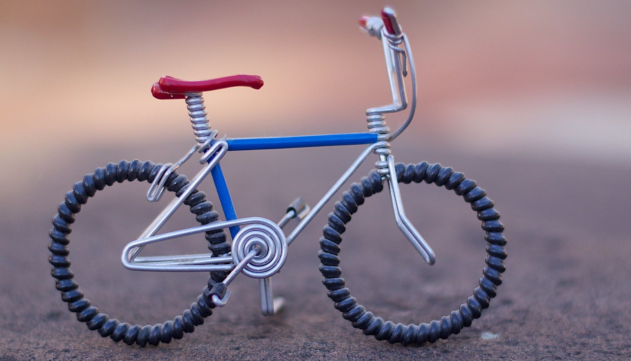 Someone built this little toy bike here, which is pretty cool