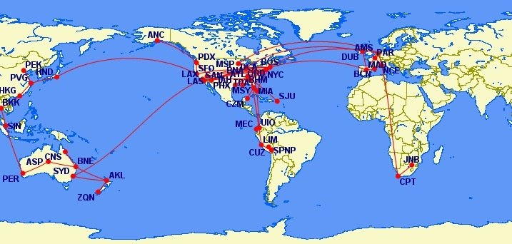Map of my flight path