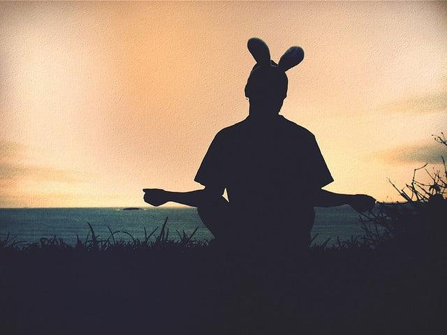 Yogaman with bunny ears
