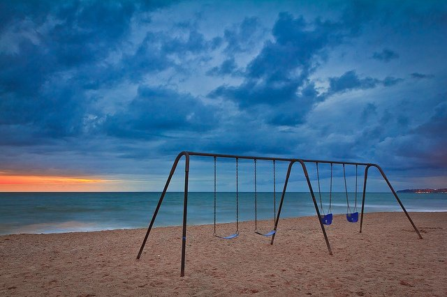 Swingset on the beach