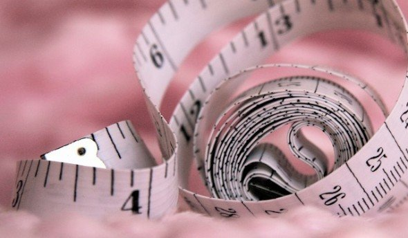 A tape measure can help determine body fat percentage.