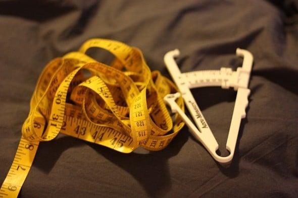 meetlint en lichaamsvet remklauw