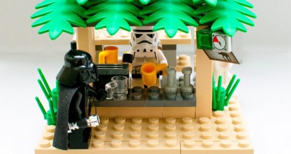 Lego Darth Vader at Bar