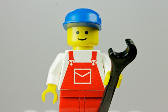 Lego with wrench, telling you to fix your unhealthy habits