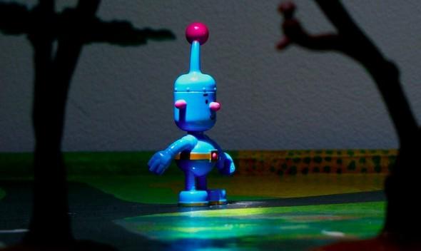 Robot in Woods
