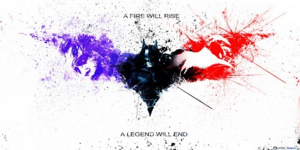 batman red white and blue