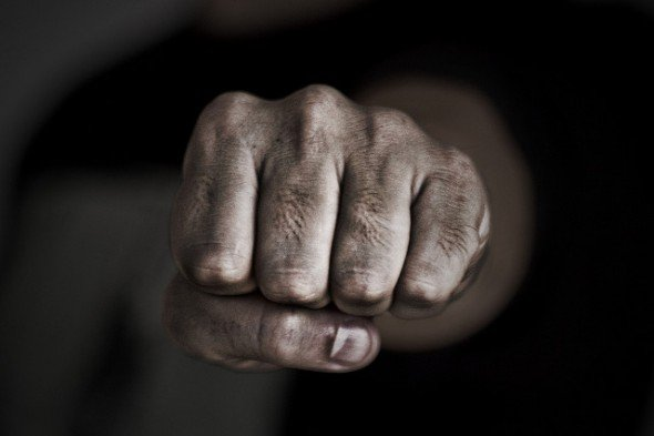 bully clenched fist
