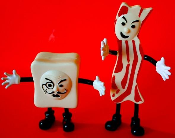 bacon and tofu