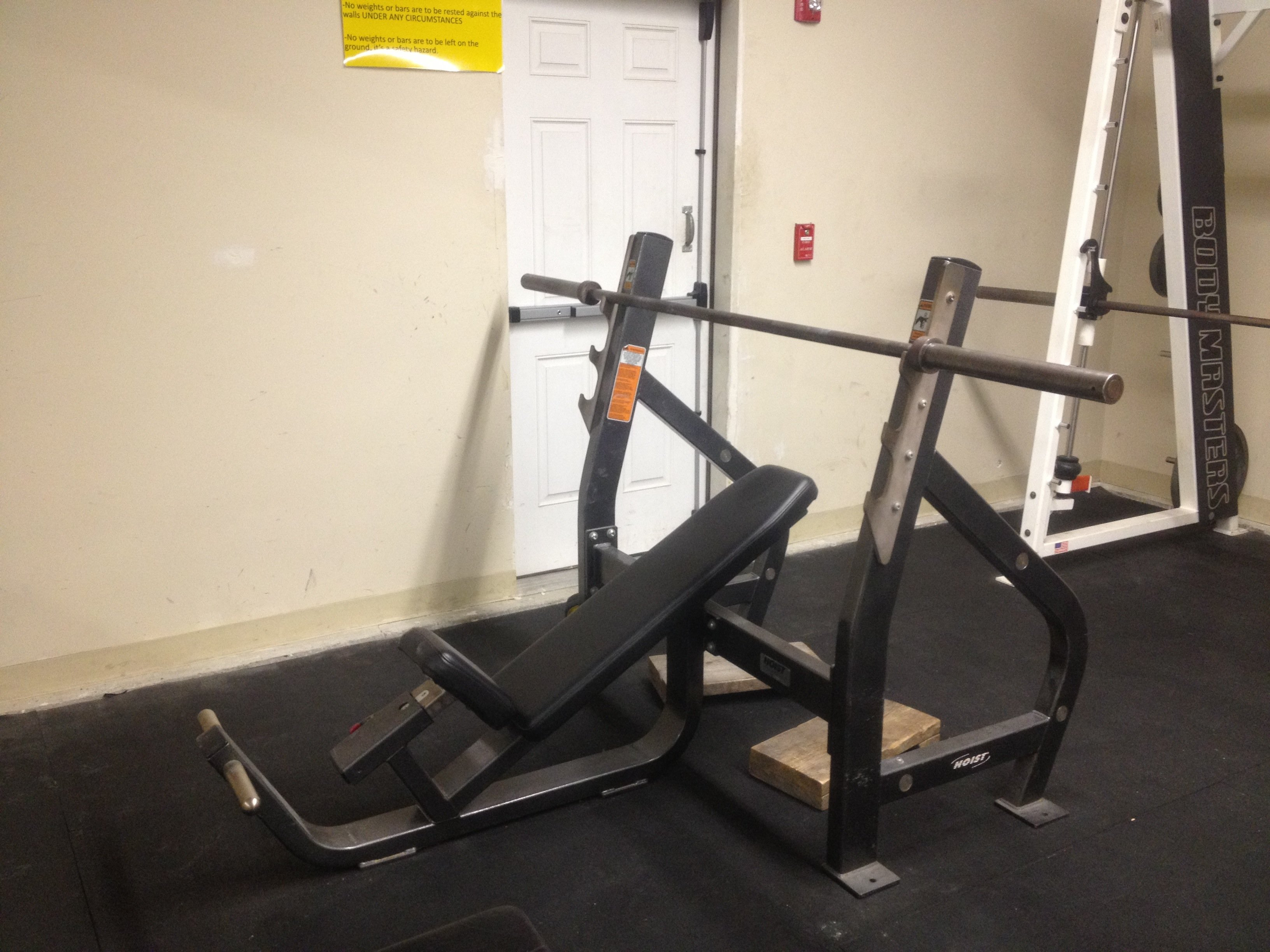 right workout easy set weight used olympic bench additional of the with fitness picking