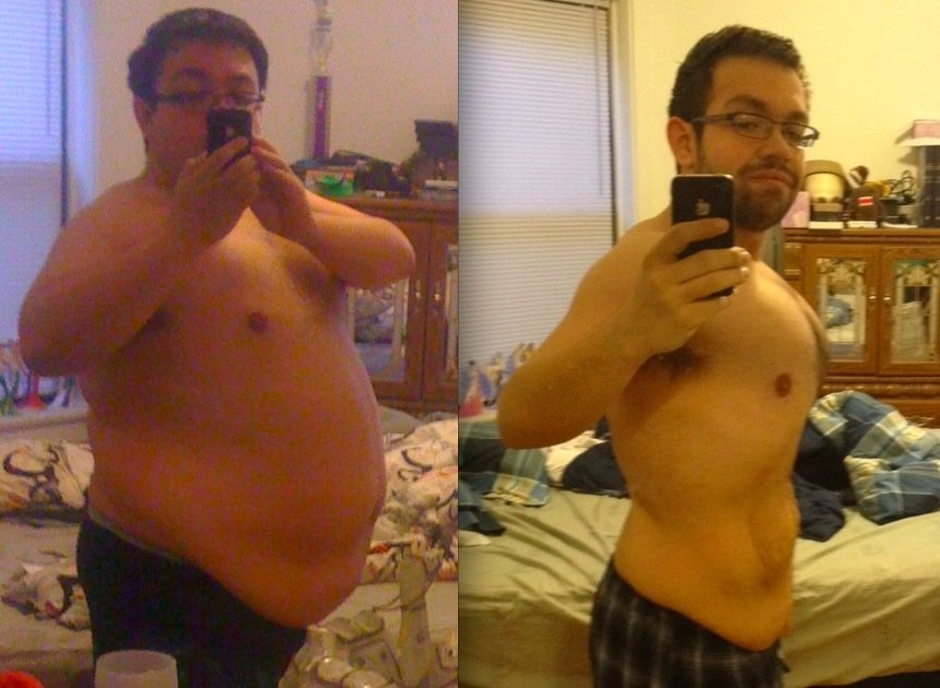 This picture shows how bodyweight training transformed Joe