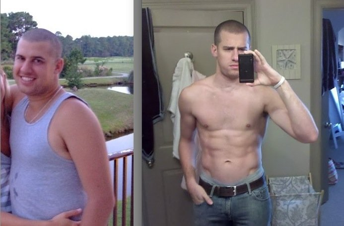 From 60 Pounds Overweight to 6-Pack Abs
