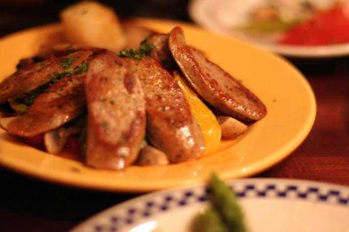 Small plate of sausages - eat it on YOUR schedule