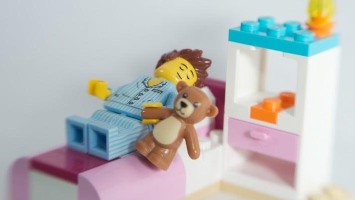 sleeping lego