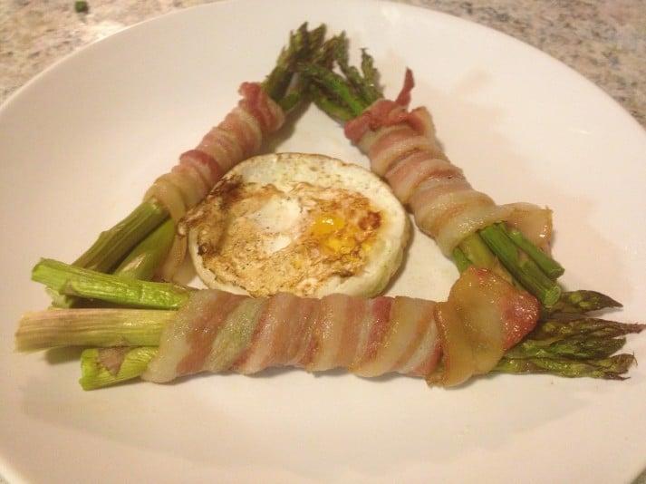 bacon asparagus tri