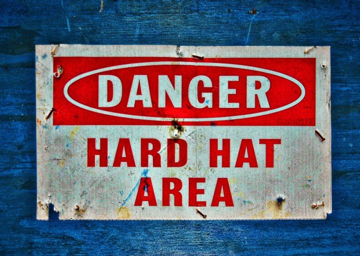 danger hard hat