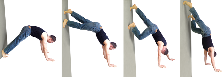 wall handstand