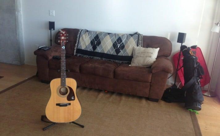 Guitar in middle of Floor