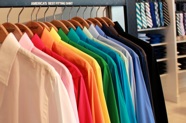 colorful wardrobe