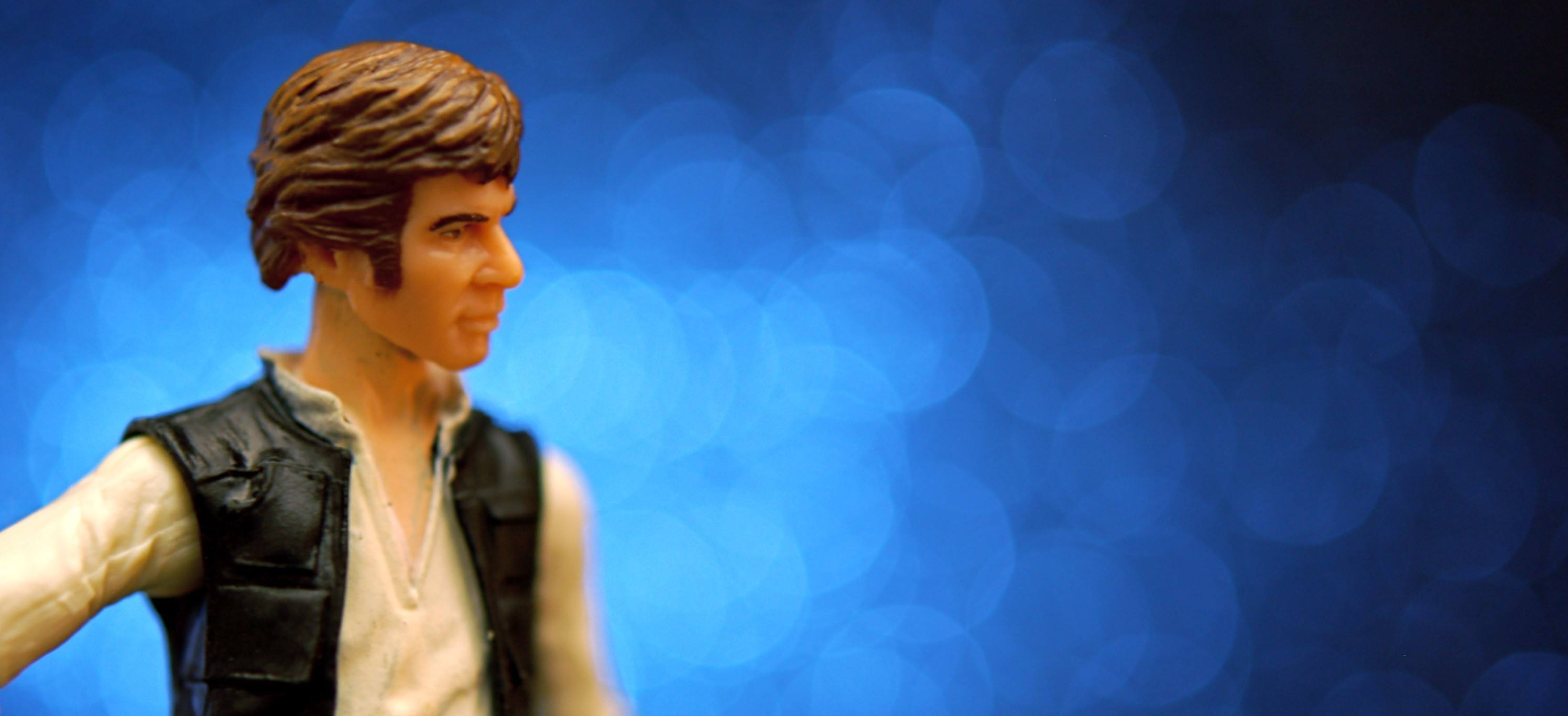 A picture of a Han Solo toy