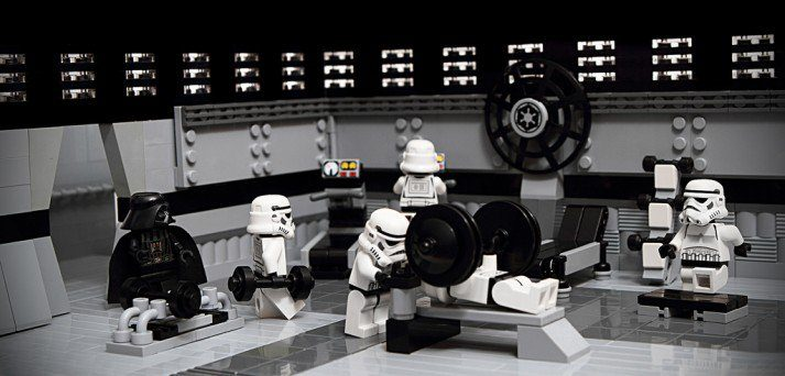 A gym like this is a great way to strength train, as Darth Vader knows.