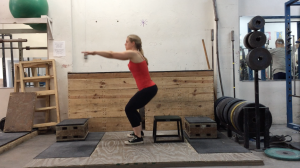 Box Squat Motion