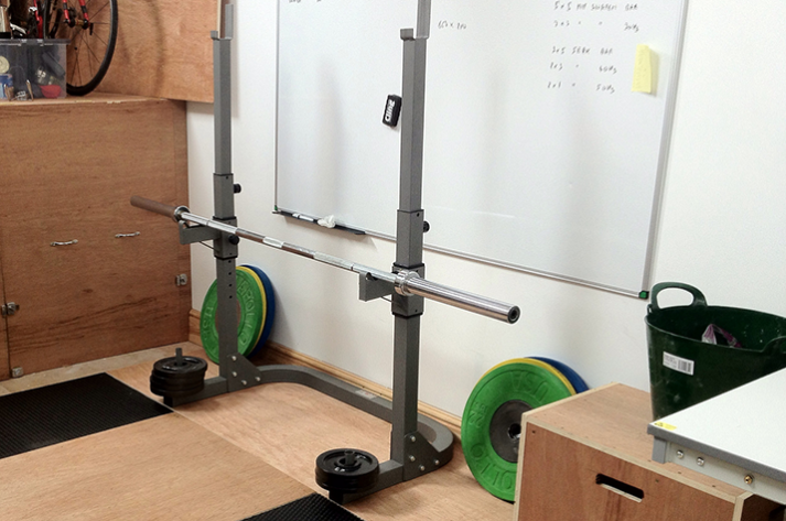 Start weightlifting with an empty barbell.