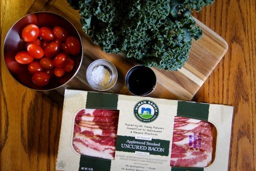 kale bacon sautee