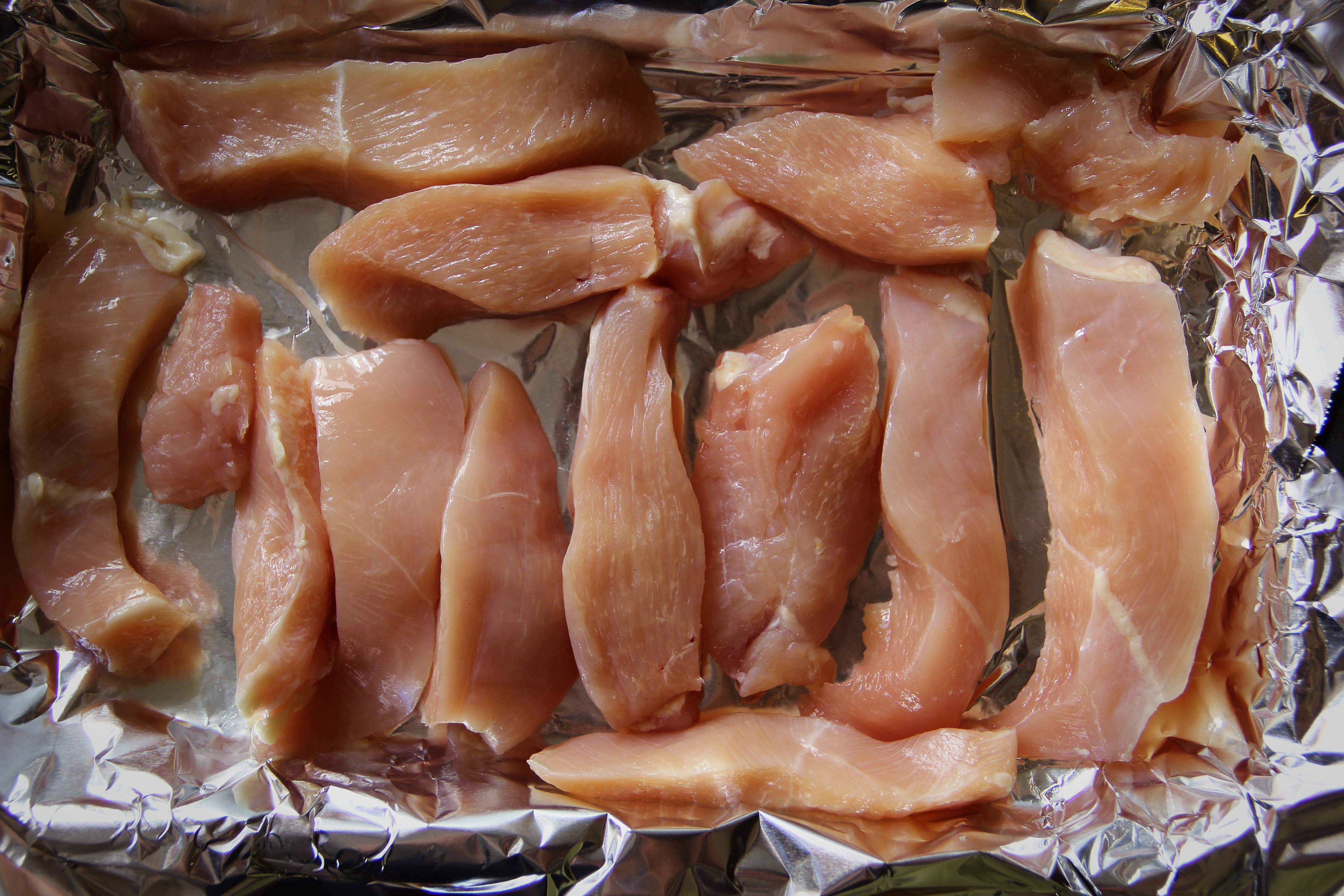 Spice On Both Sides Of The Chicken Pour  Olive Oil Or Your Sauce On One Side, Shake On Your Spices Of