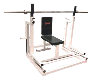 The rack will be important for the seated overhead press, so you can come in and out of the movement safely.