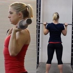 If you start your overhead press like Staci here, you're doing great!