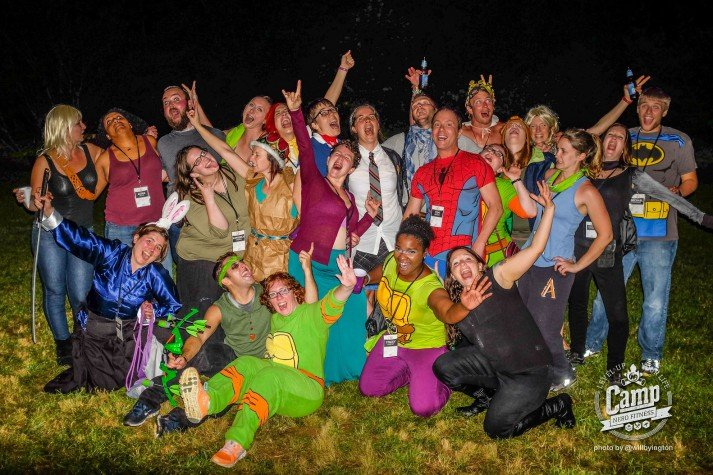camp costume party
