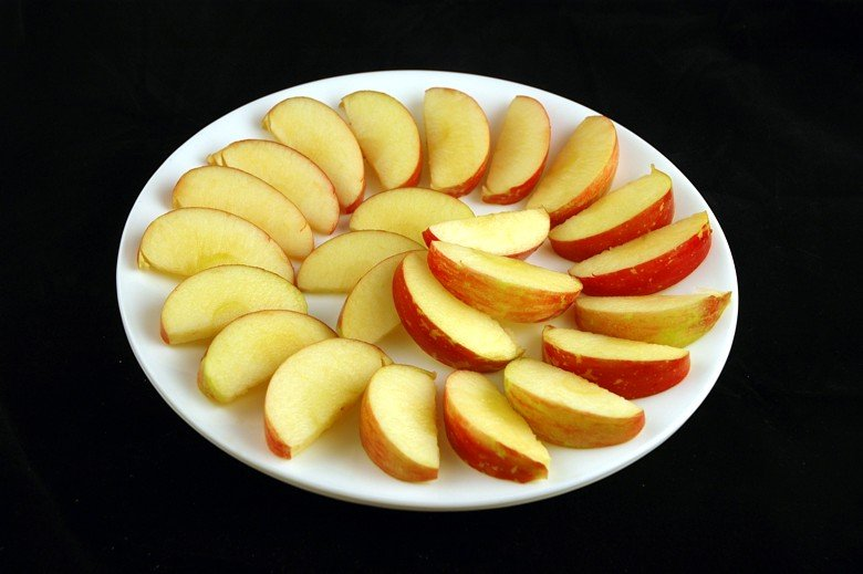 This is about 200 calories of apple.