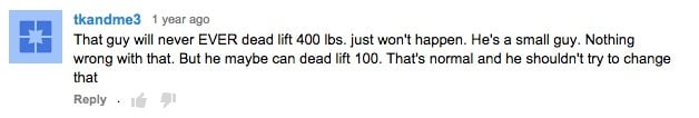 Never Deadlift 400