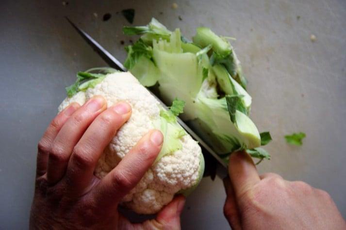 how to cut a frozen roast in half