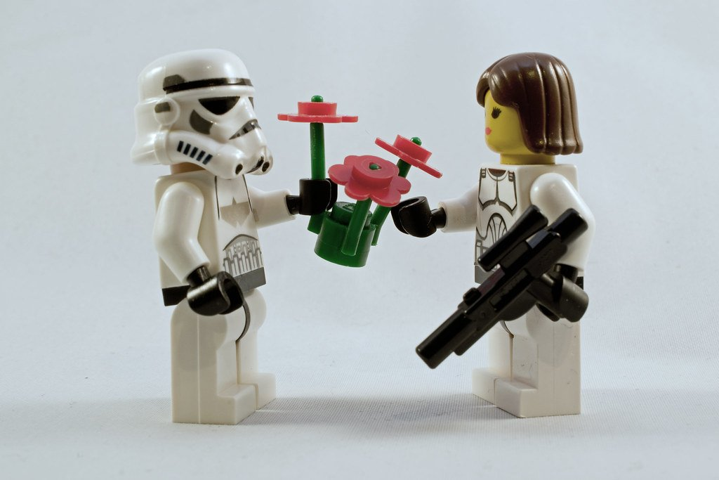 Proper love can make for a leveled up life, as these two LEGOS know.