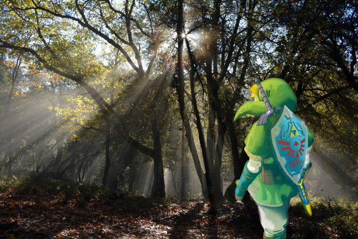 Ein Bild von Link in der Sonne, der SAD überwunden hat