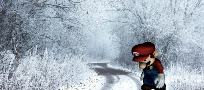 Dieses Bild zeigt Mario, der ein wenig traurig ist
