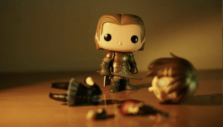 A picture of a Games of Thrones bobblehead, who is about to slay the SAD monster.