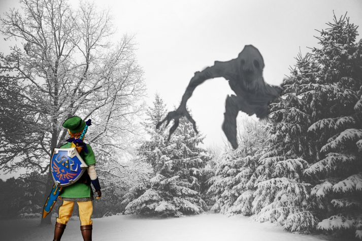 sad, monster, link, zelda, depression, winter, snow, cold, scary, mental health