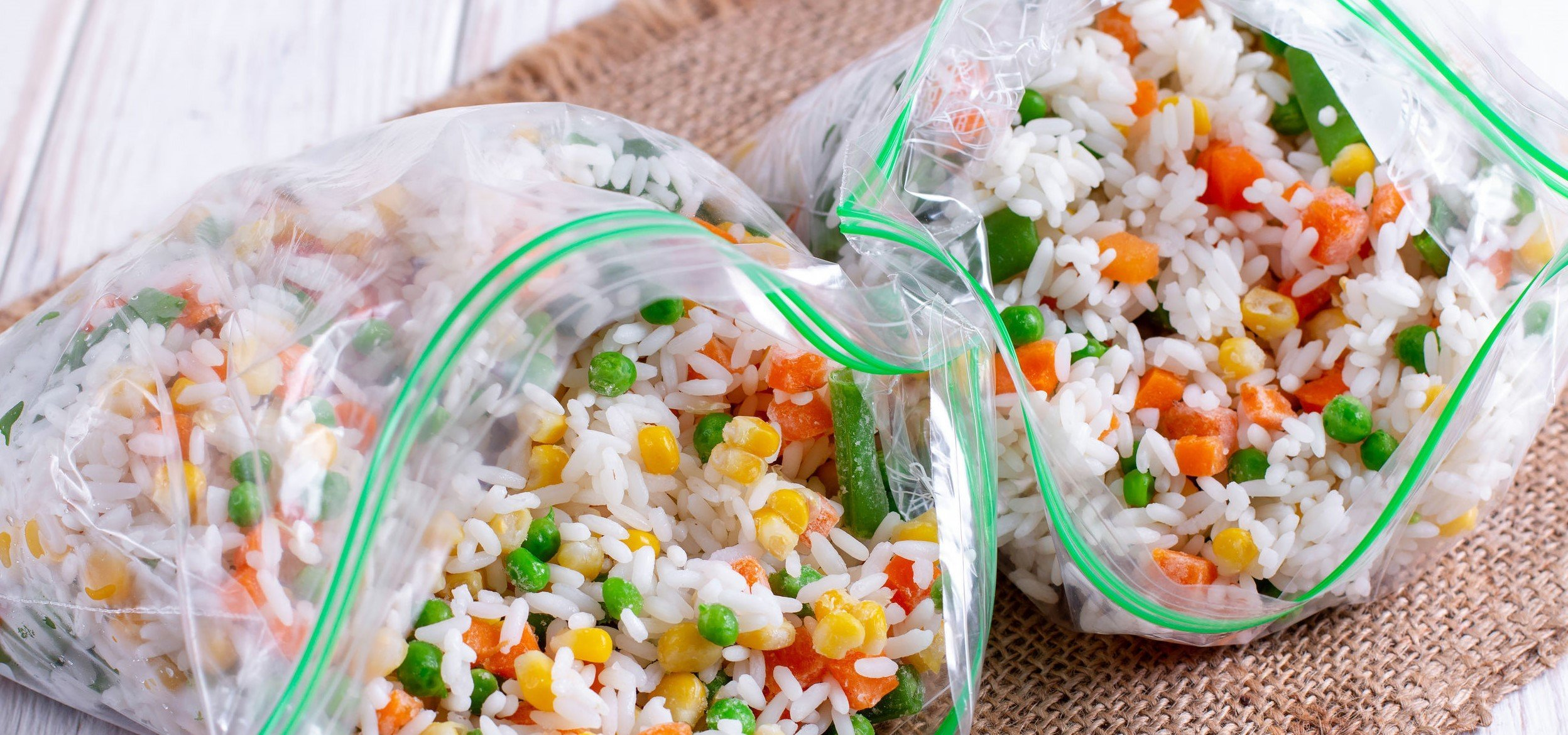 A pic of frozen mixed vegetables in freezer bag