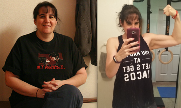 Leslie used NF Coaching and her local gym to transform herself.