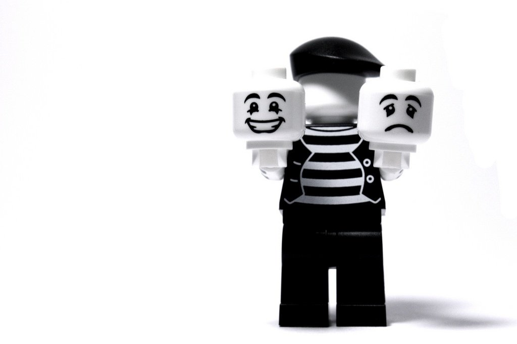 When you realize this LEGO is holding two heads, it becomes kind of creepy...