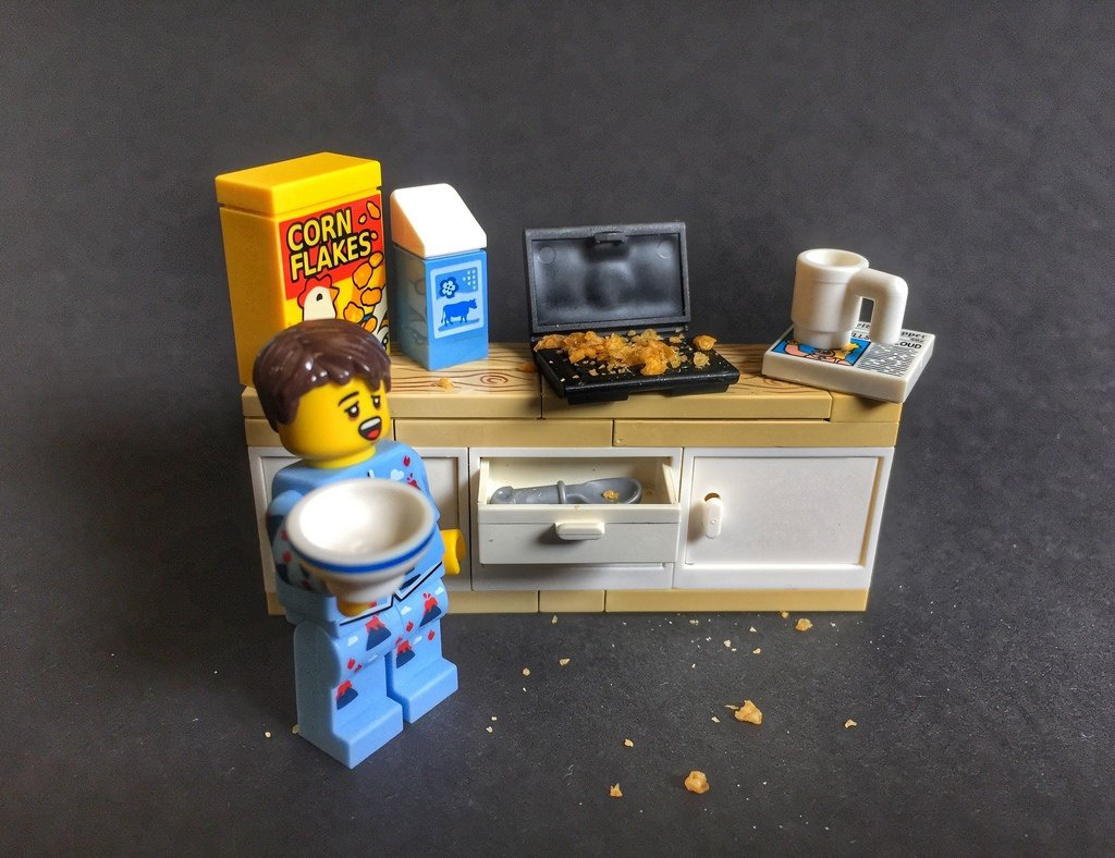 This LEGO isn't fasting or going low-carb, but it's working for him.