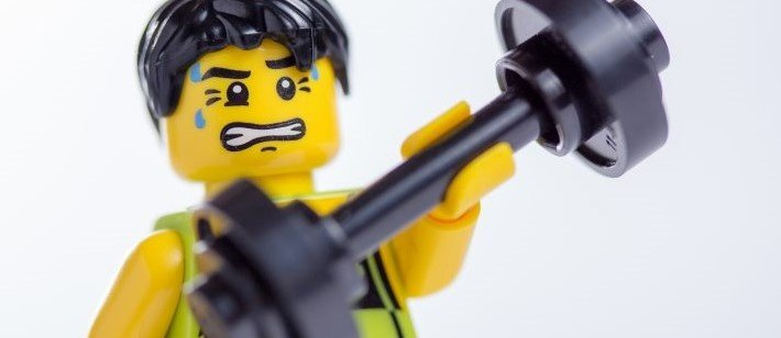This Lego has found his perfect workout under a low-carb diet.