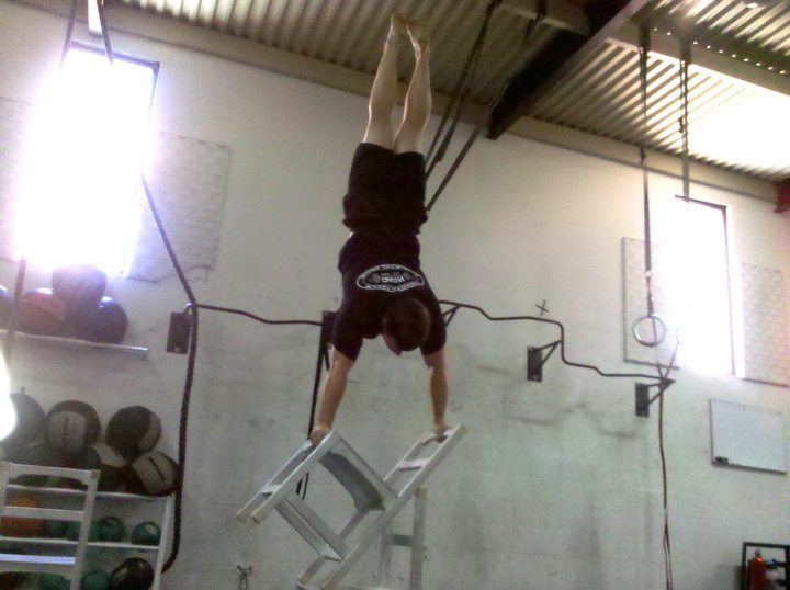 Whatever you do, don't try a handstand like this your first time. Or maybe ever...